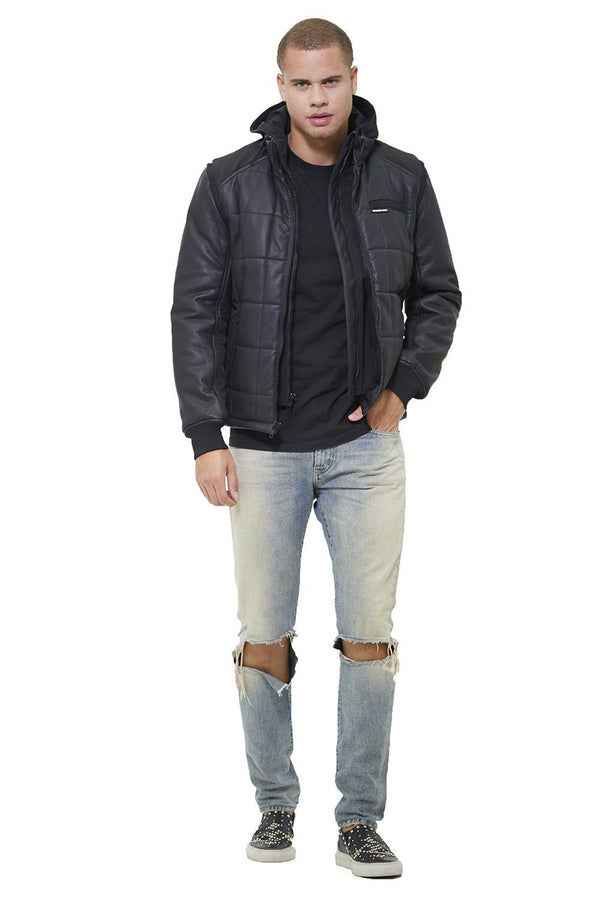 Men's Grid Quilted Bomber Jacket (And Vest) - Members Onlyå¨ Official