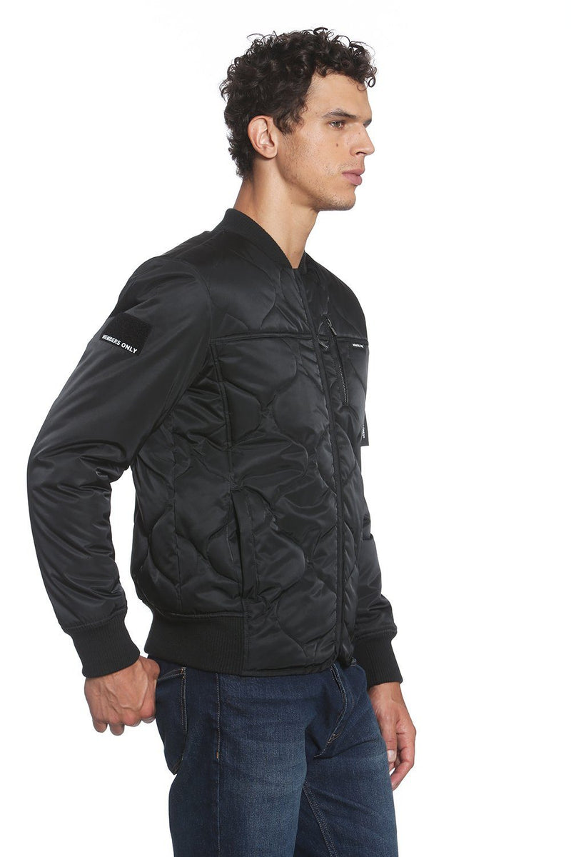 Men's Oval Quilt Bomber Jacket - Members Only
