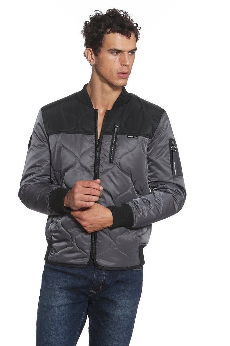Members Only Oval Quilt Bomber Jacket for Men
