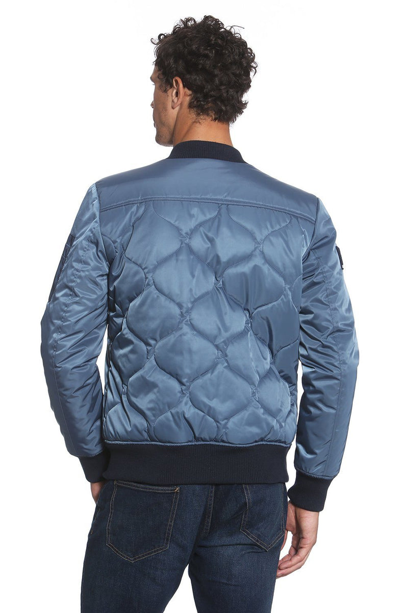 Men Oval Quilt Bomber Jacket - Members Only