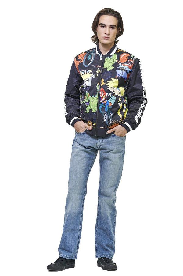 Men's Nickelodeon Mesh Print Bomber Jacket
