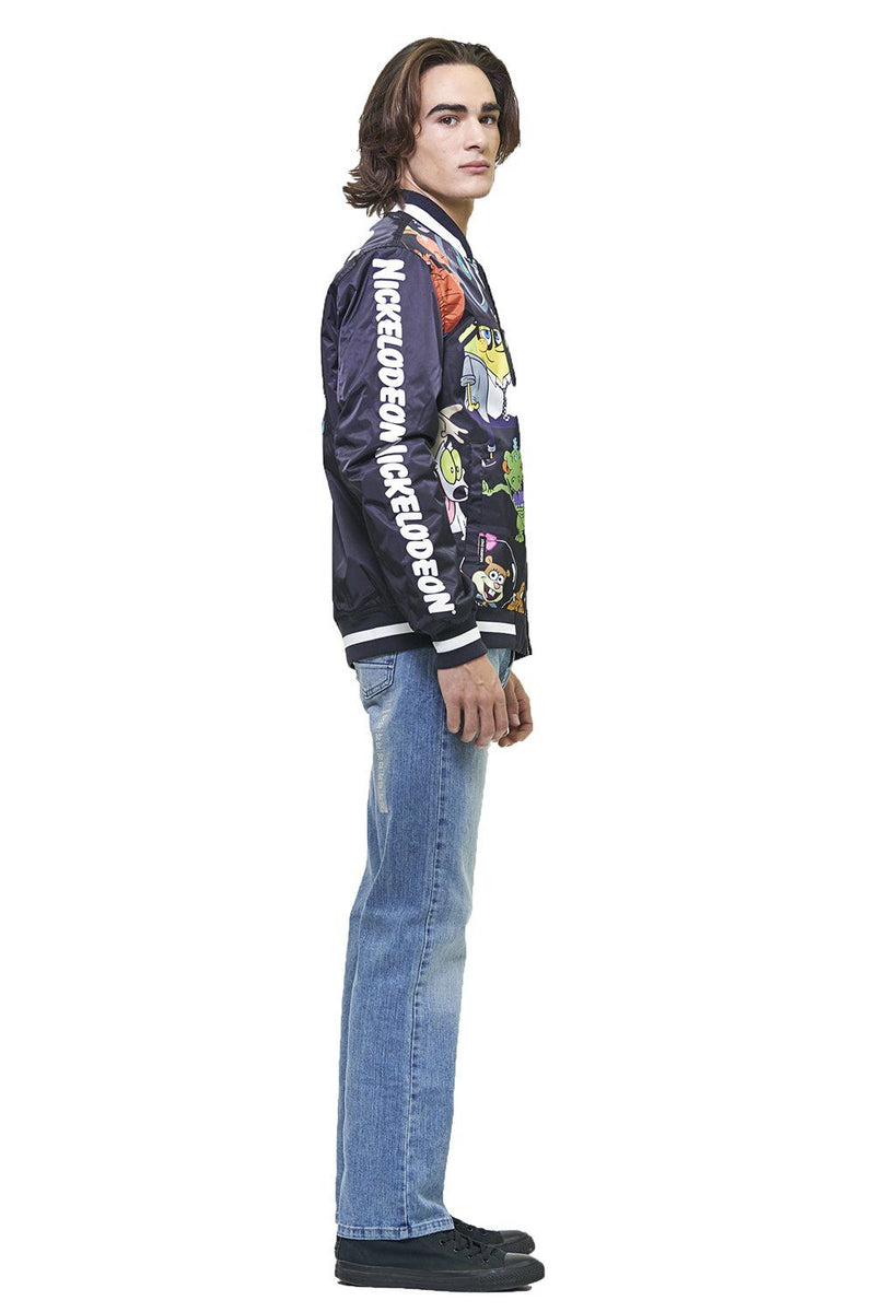 Clearance - Men's Nickelodeon Mesh Print Bomber Jacket