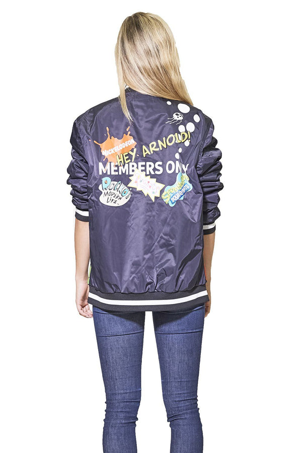 Men's Nickelodeon Mesh Print Bomber Jacket for Women