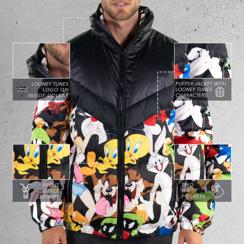 Members Only Looney Tunes Puffer Jacket for Men