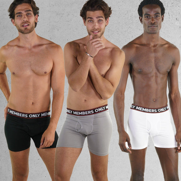 Men's 3PK Poly Spandex Athletic Boxer Brief