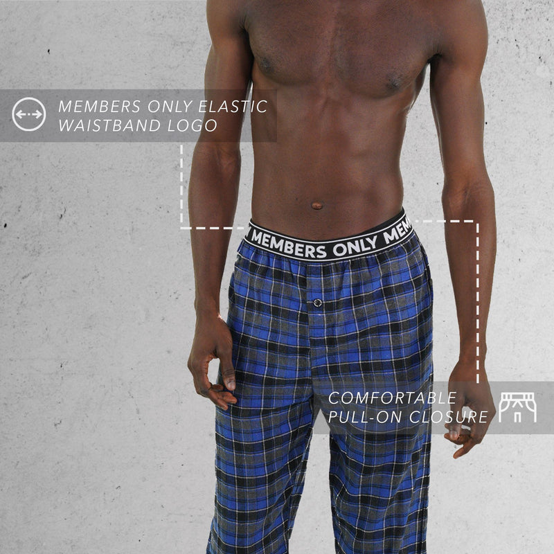 Members Only Flannel blue Pajama Pants for Men's