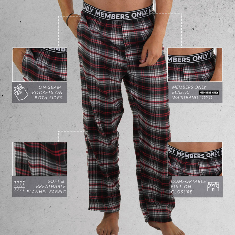 Members Only Men's Flannel Sleep Pants
