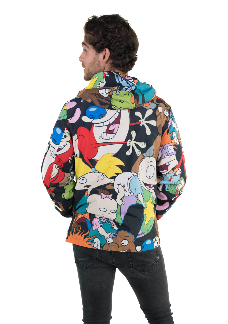 Men's Nickelodeon Mash Print Windbreaker Jacket