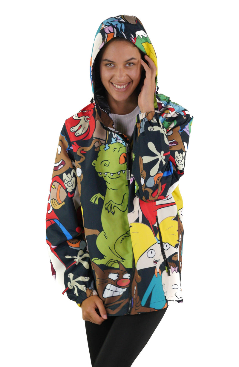 Men's Nickelodeon Mash Print Windbreaker Jacket for Women