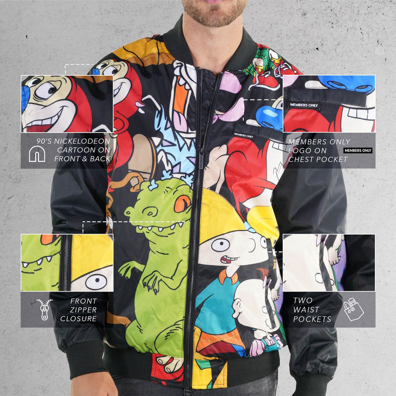 Men's Nickelodeon Mash Print Bomber Jacket