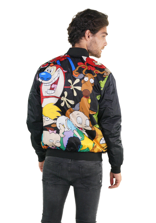 Nickelodeon Mash Print Bomber Jacket for Men's