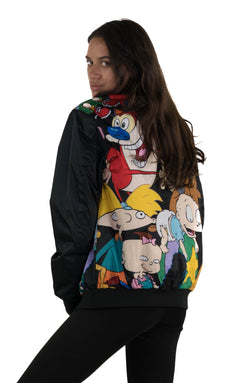 Men's Nickelodeon Mash Print Bomber Jacket for Women