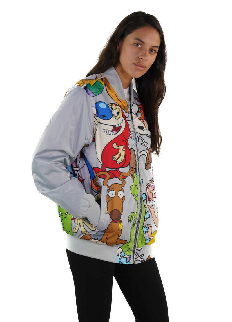 Men's Nickelodeon Mash Print Bomber Jacket for Women - Members Only