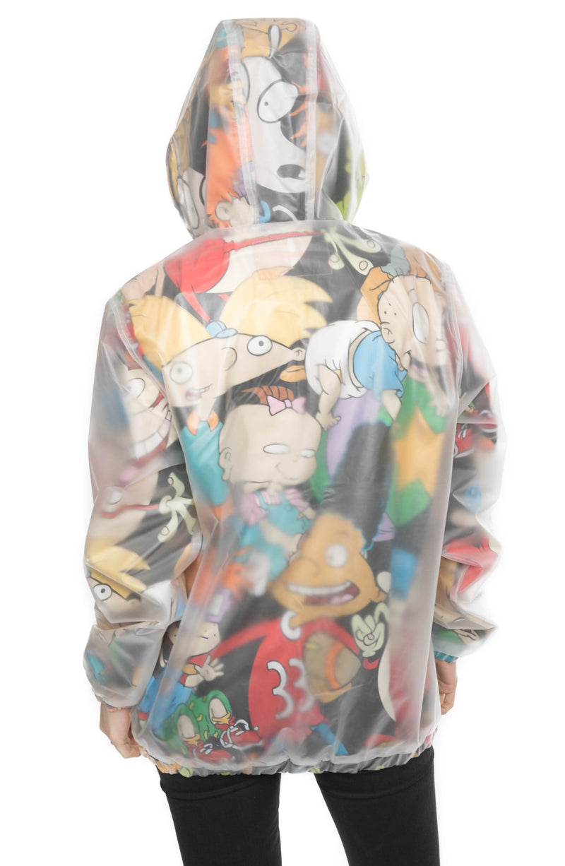 Men Translucent Nickelodeon Collab Popover Jacket For Women