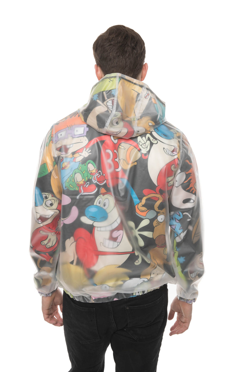 Men Translucent Nickelodeon Collab Popover Jacket Back