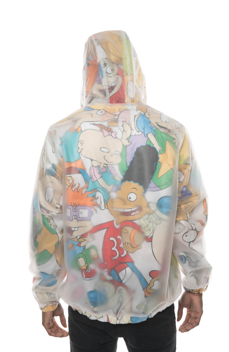 Men's Translucent Nickelodeon Collab Popover Jacket Back