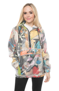 Men's Translucent Nickelodeon Collab Popover Jacket For Women