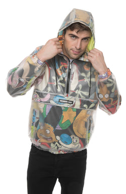 Men's Translucent Nickelodeon Collab Popover Jacket