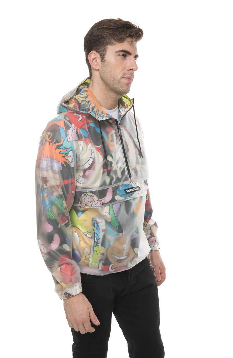 Men Translucent Nickelodeon Collab Popover Jacket