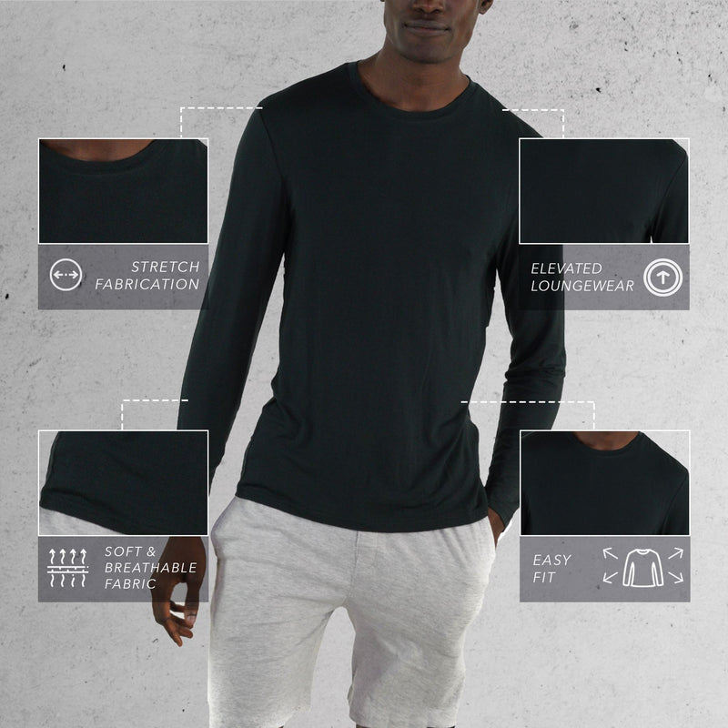 Black Sleep Shirt for men
