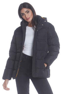 Men's Utility Puffer Jacket For Women Unisex Members Only Official BLACK Small