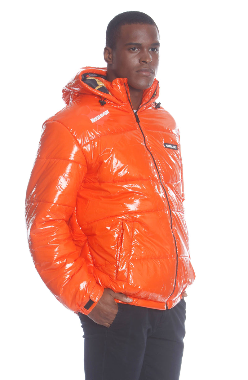 Men Nickelodeon Shiny Collab Puffer Jacket Unisex Members Only
