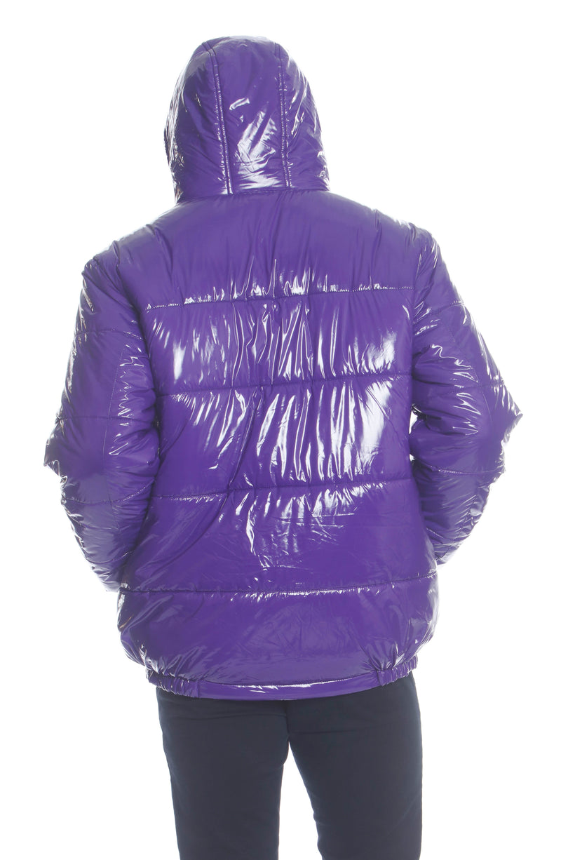 Members Only Men's Nickelodeon Shiny Collab Puffer Jacket Unisex