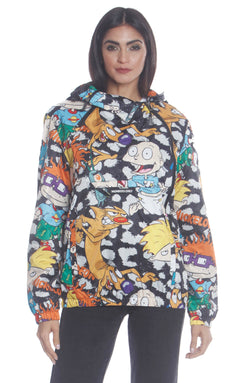 Men's Nickelodeon Mash Popover Jacket For Women Unisex Members Only Official CHEETAH Small