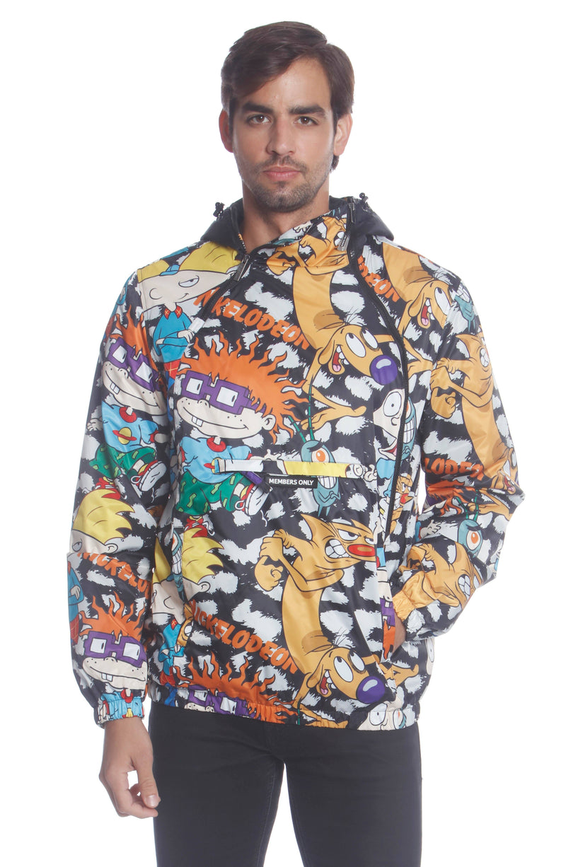 Men's Nickelodeon Mash Popover Jacket Unisex Members Only Official CHEETAH Small