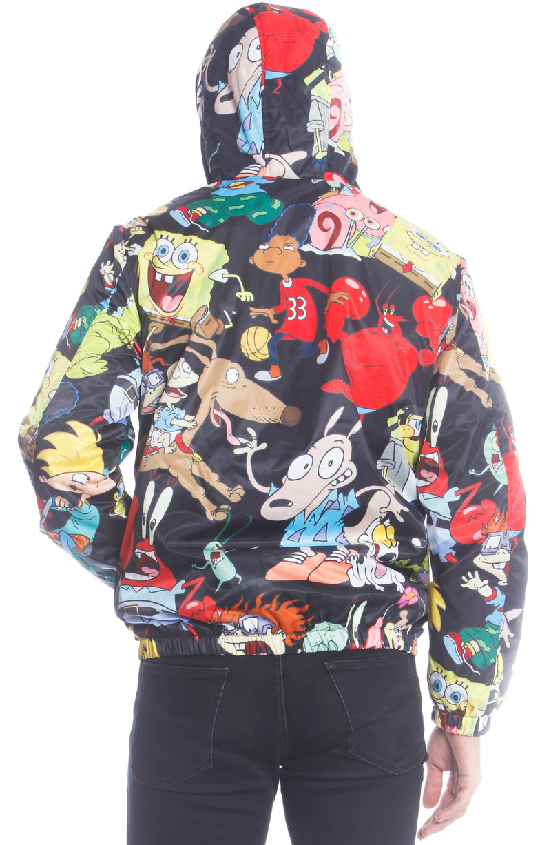 Men's Nickelodeon Mash Popover Jacket Unisex Members Only Official