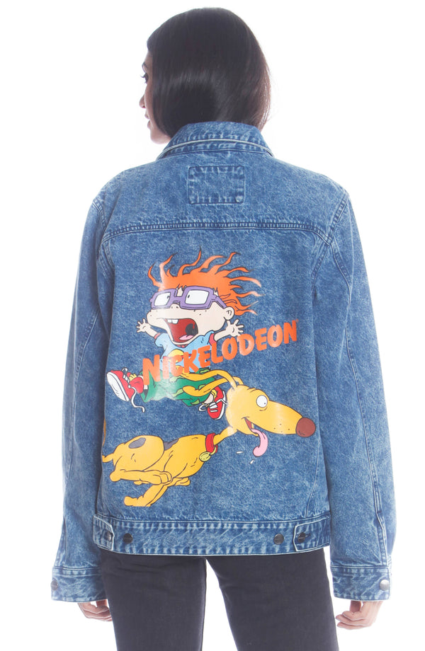 Men's Chucky Placement Denim Jacket For Women Unisex Members Only Official