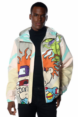Men's Big Chucky Nickelodeon Windbreaker Jacket jacket Members Only Official