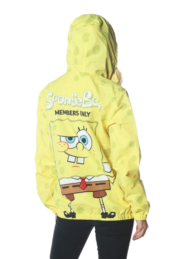 Men's Spongebob Windbreaker Jacket for Women jacket Members Only Official