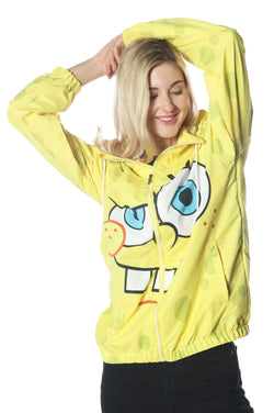 Men's Spongebob Windbreaker Jacket for Women jacket Members Only Official SPONGEBOB Small