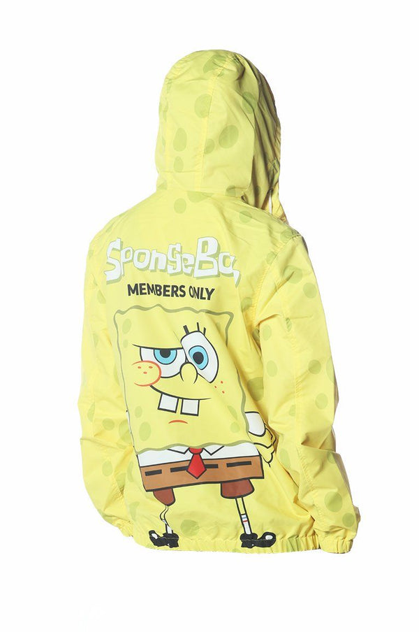 Men's Spongebob Windbreaker Jacket jacket Members Only Official SPONGEBOB Small