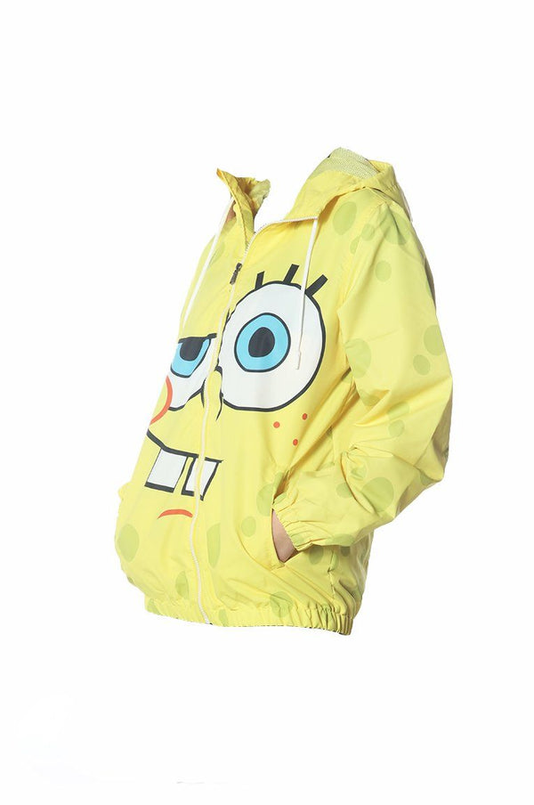 Men's Spongebob Windbreaker Jacket jacket Members Only Official