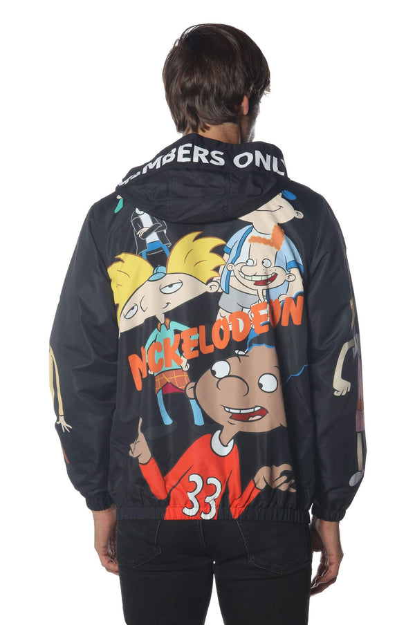 Men's Hey Arnold Nickelodeon Windbreaker Jacket jacket Members Only Official