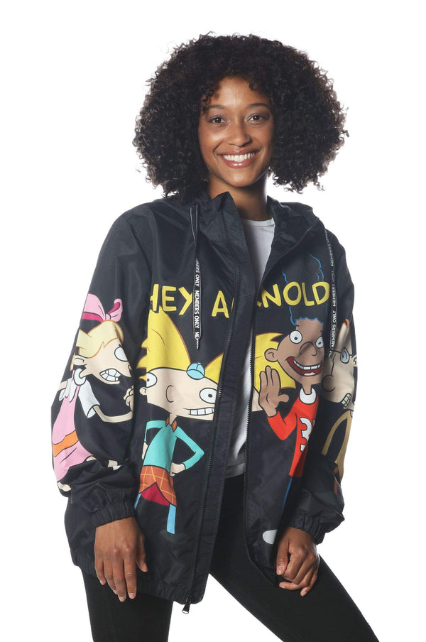 Men's Hey Arnold Windbreaker Jacket for Women jacket Members Only Official BLACK Small