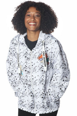 Women's Nickelodeon Full Zip Jacket jacket Members Only Official WHITE Small