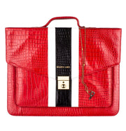 red gator leather tablet laptop briefcase