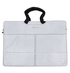 white gator leather tablet laptop briefcase