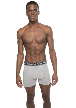Members Only Men's 3PK Cotton Spandex Boxer Brief - White
