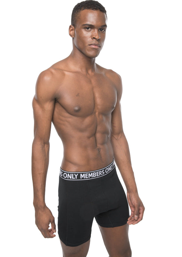 Members Only Men's 3PK Cotton Spandex Boxer Brief - Black Briefs Members Only BLACK SMALL