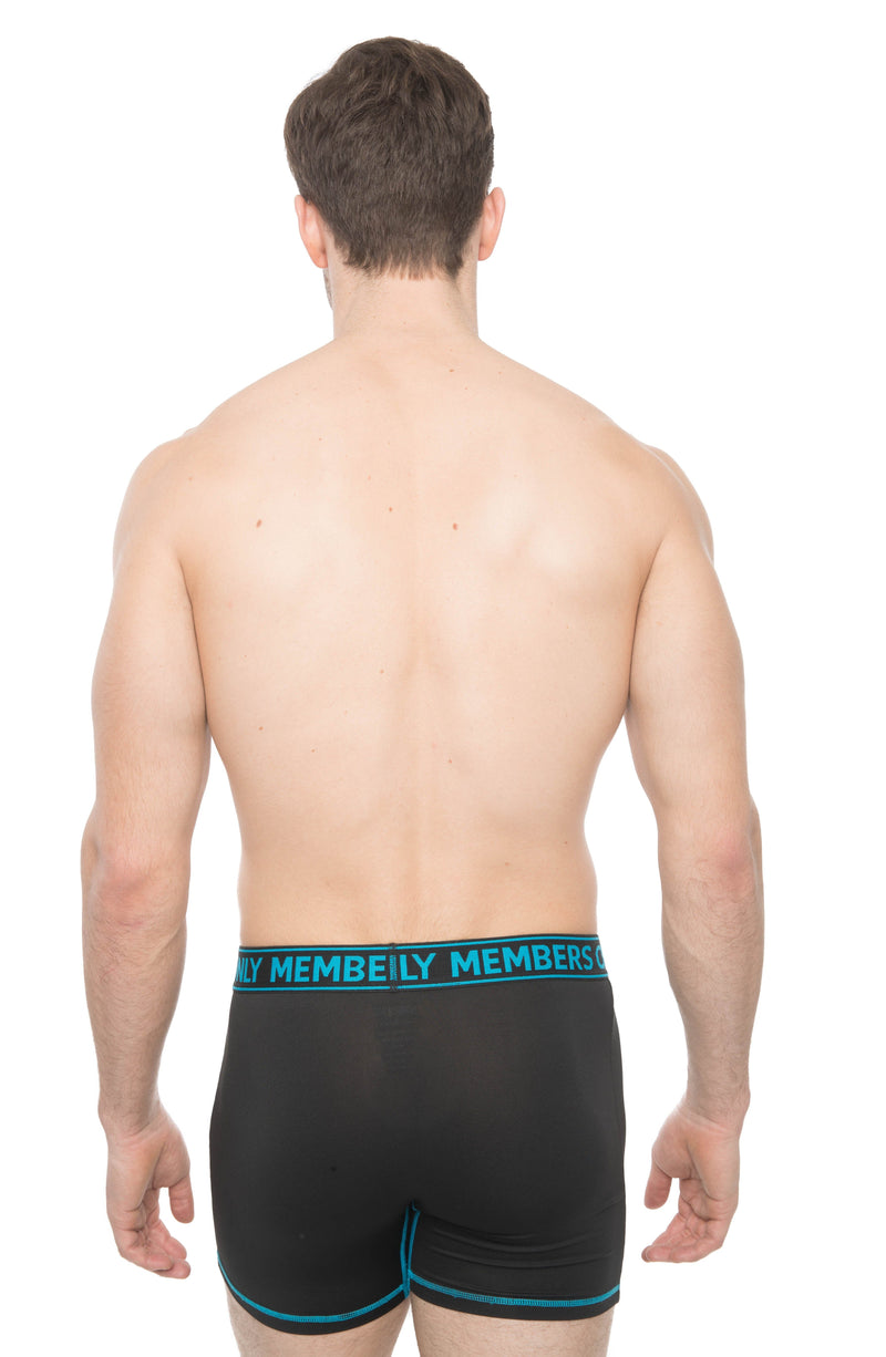 Members Only 3PK Athletic Boxer Brief Contrast Elastic