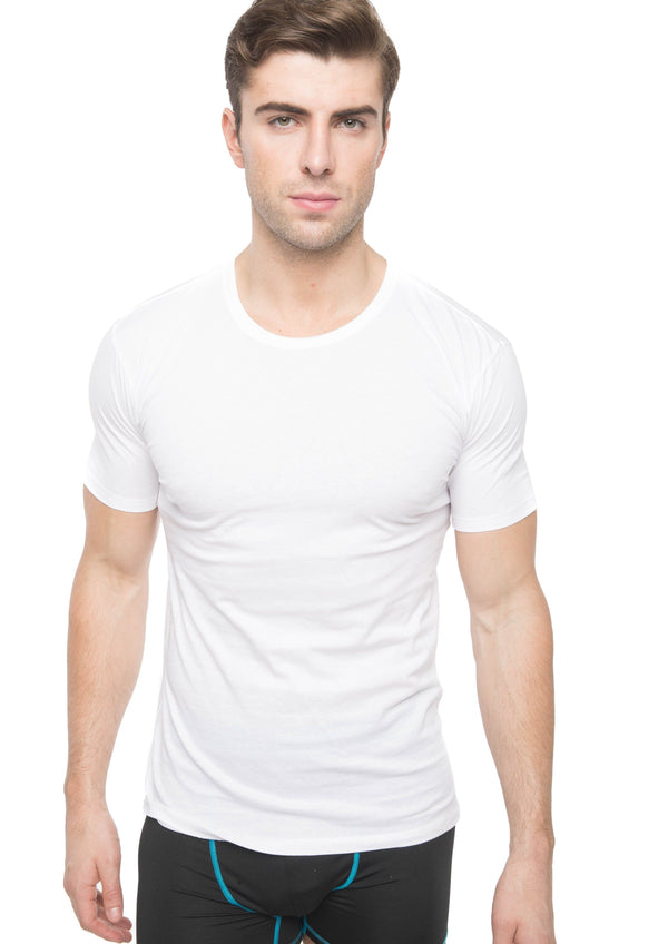 Members Only Men's 3PK Cotton Crew Neck T-Shirt - White Sleep Shirt Members Only WHITE SMALL