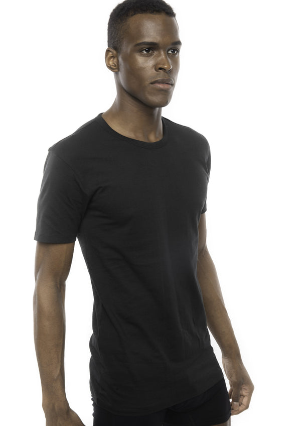 Cotton men's Crew Neck T-Shirt black