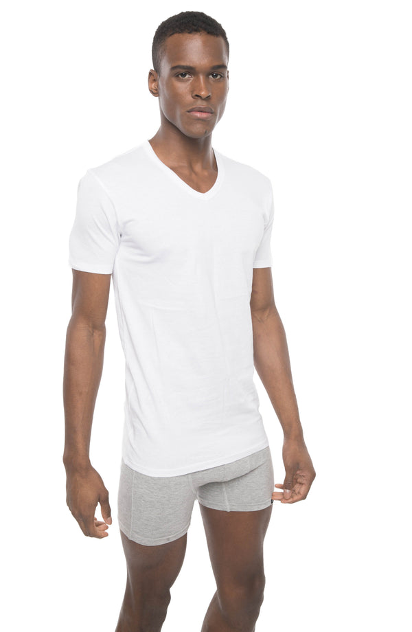 Members Only Men Soft Cotton V Neck Shirt