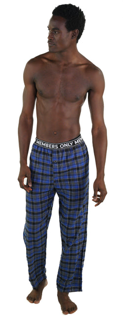 Members Only Flannel blue Sleep Pants for Men's