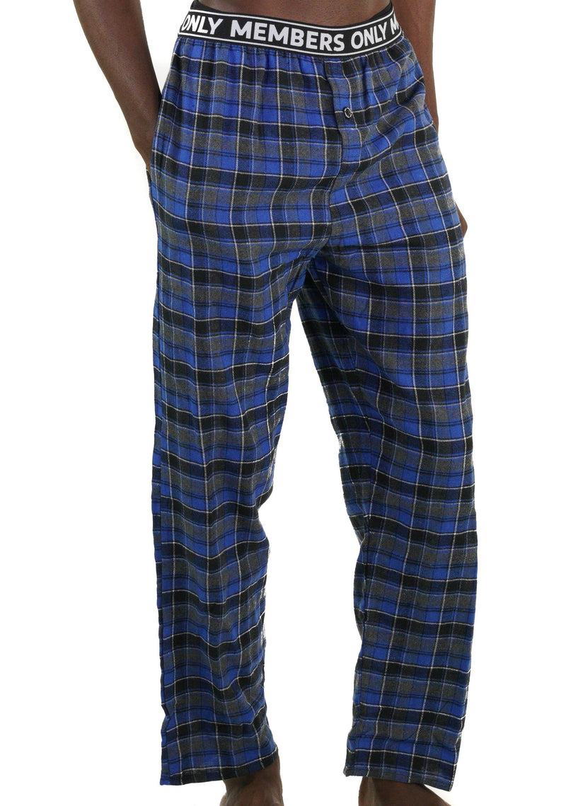 Men's Flannel Sleep Pants Logo Elastic