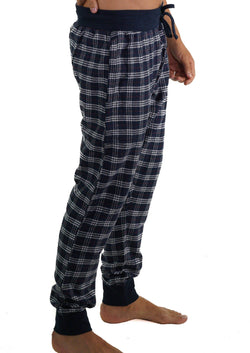 Men's Flannel Jogger Lounge Pants - GREY/RED Sleepwear Pants Members Only GREY/RED SMALL